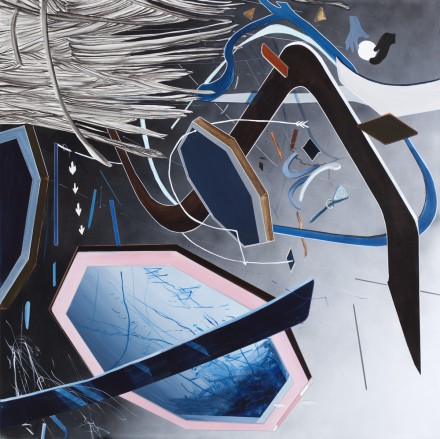 Indgang-udgang-overgang IV - 150 x 150 cm - Acrylic and pencil on canvas - 2015