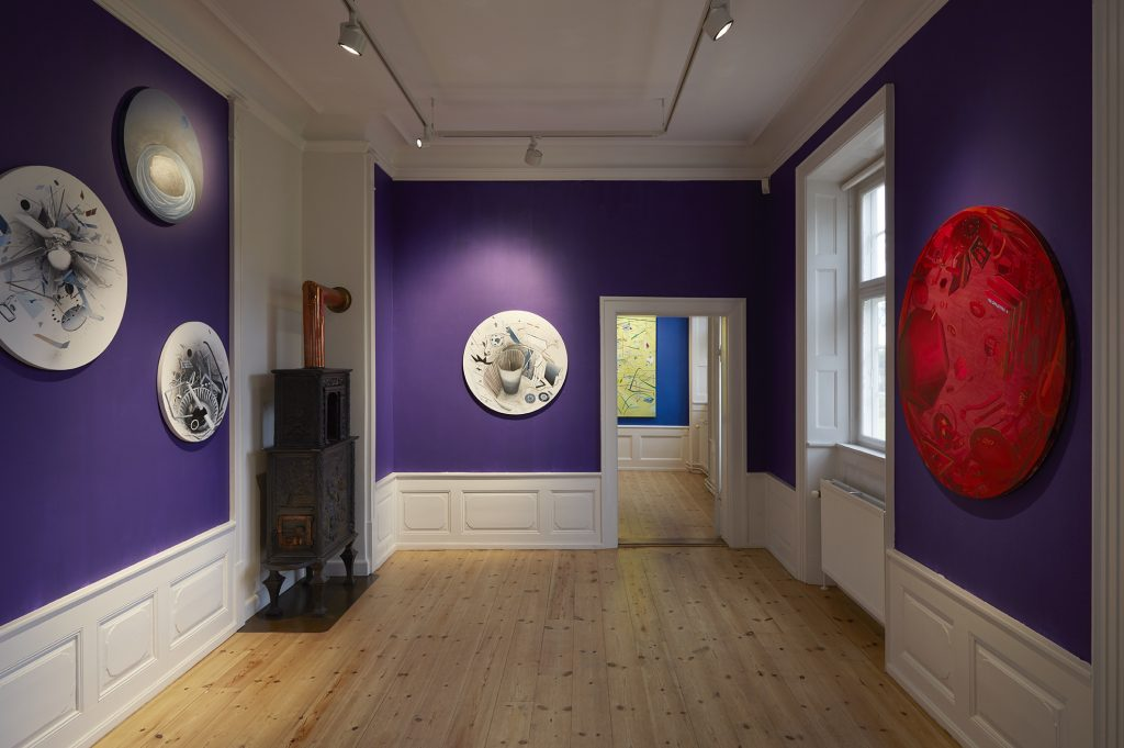 Installation view 'The Purple room'